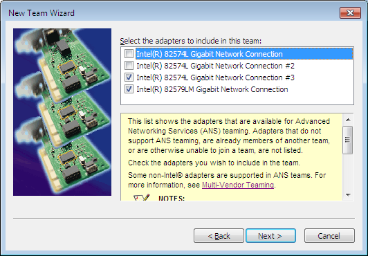 Intel Ethernet Teaming